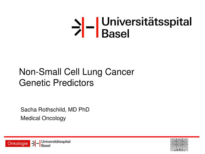 Non small cell lung cancer genetic predictors