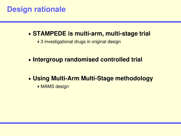 Design rationale