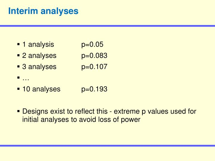 Interim analyses