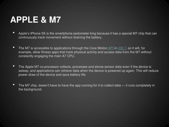 APPLE & M7