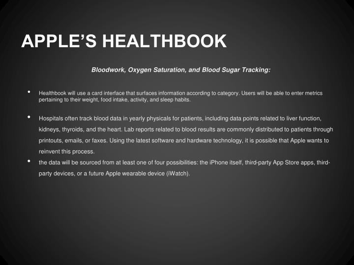 APPLE'S HEALTHBOOK