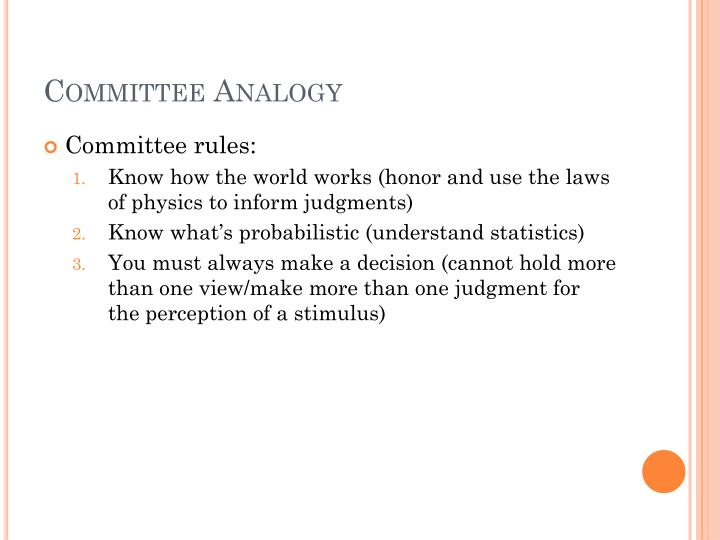 Committee Analogy