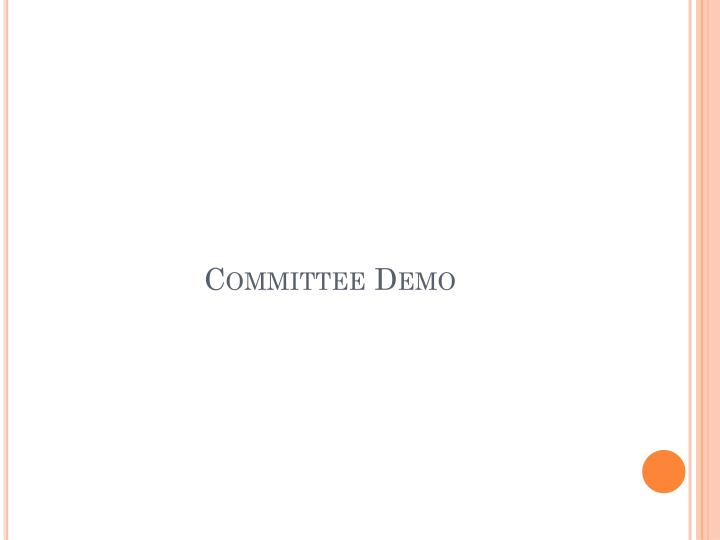 Committee Demo