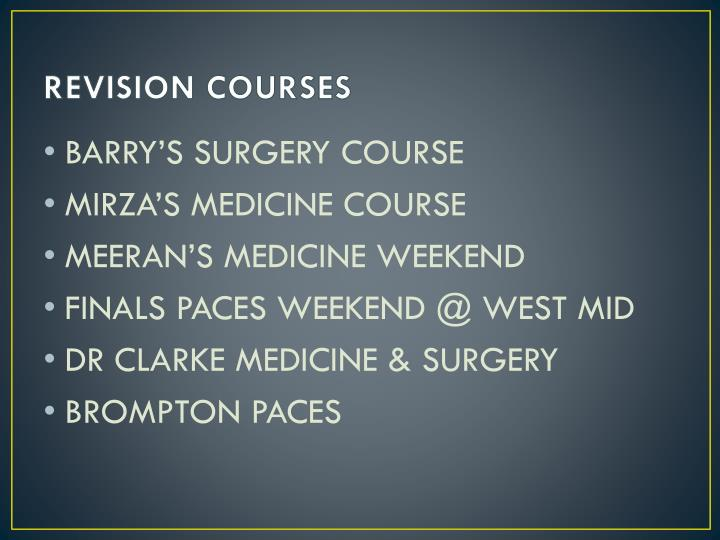 REVISION COURSES