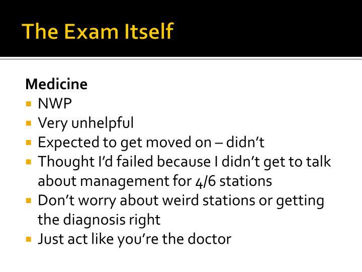 The Exam Itself