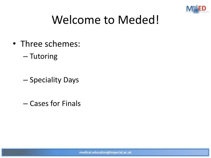 Welcome to meded
