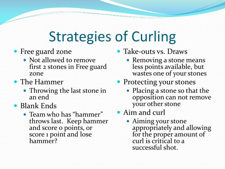 Strategies of Curling