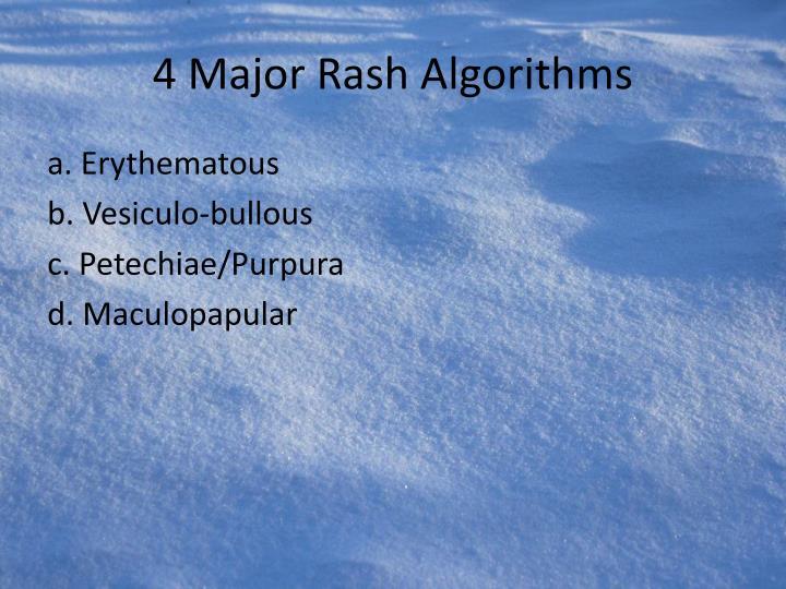 4 Major Rash Algorithms