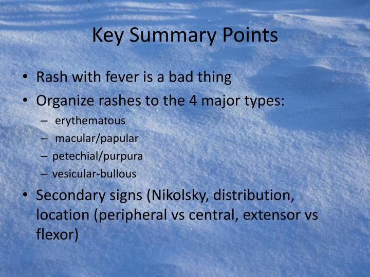 Key Summary Points