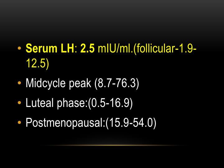 Serum LH