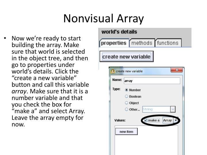 Nonvisual Array