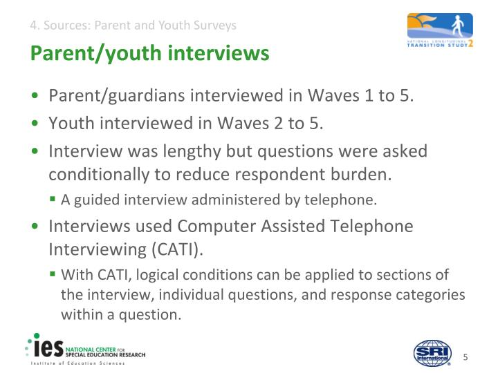 Parent/youth interviews