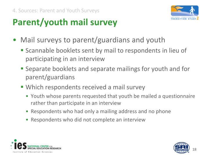 Parent/youth mail survey