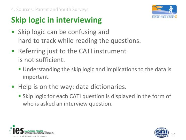 Skip logic in interviewing
