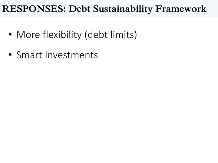 RESPONSES: Debt Sustainability Framework