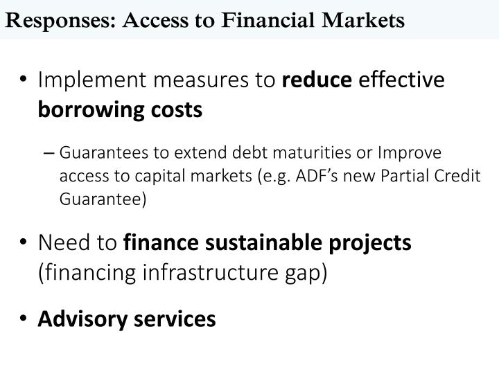 Responses: Access to Financial Markets