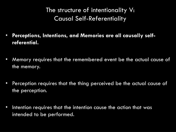 The structure of intentionality