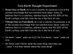 twin earth thought experiment