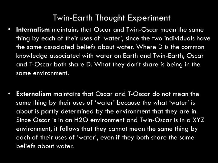 Twin-Earth Thought Experiment