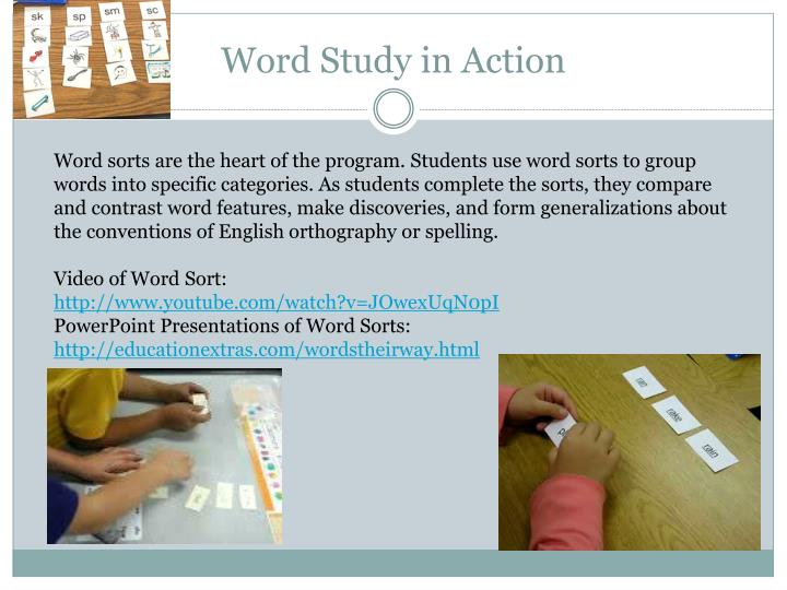Word Study in Action
