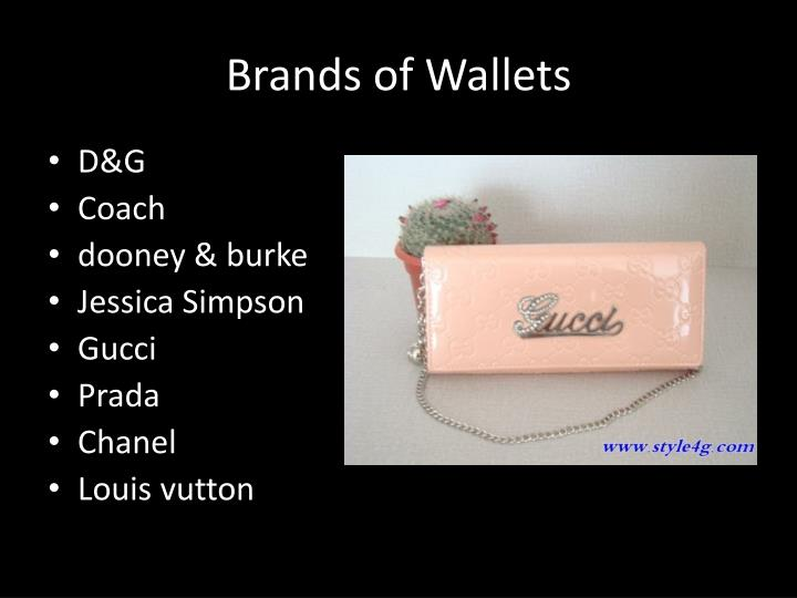 Brands of Wallets