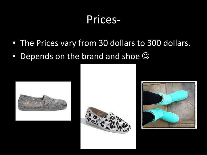 Prices-