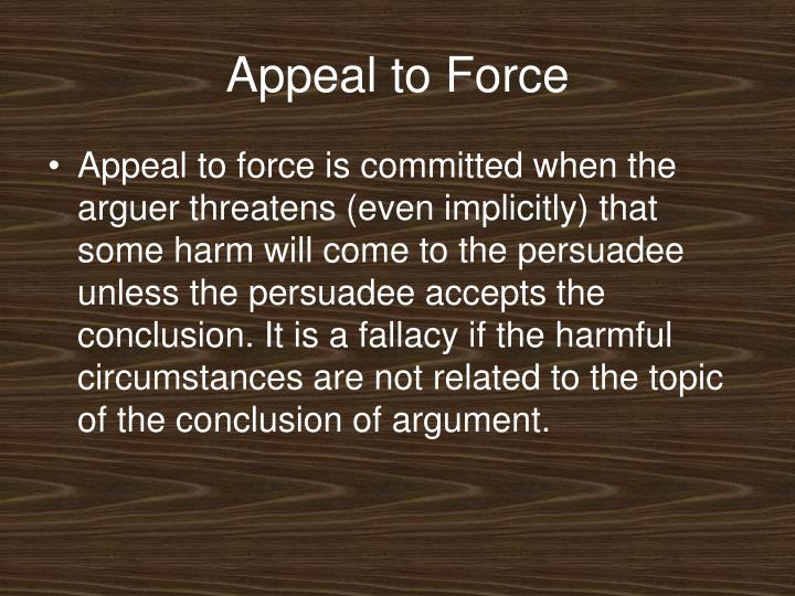 Appeal to Force