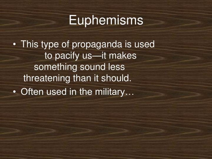 Euphemisms