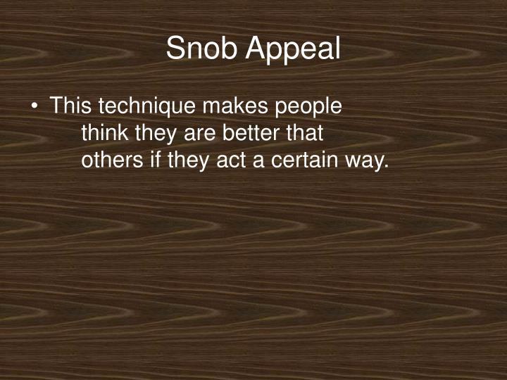 Snob Appeal