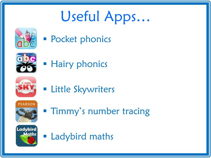Useful Apps…