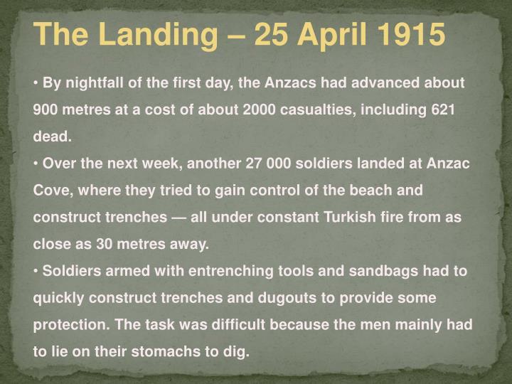 The Landing – 25 April 1915