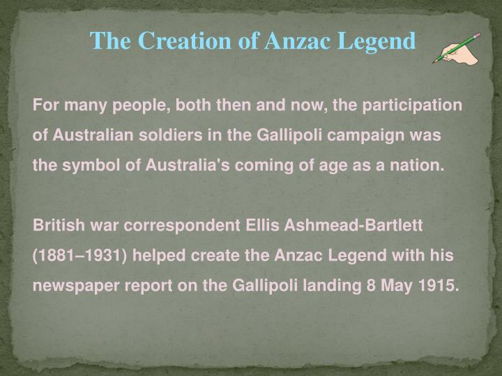 creation of the anzac legend essay