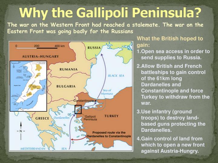 Why the Gallipoli Peninsula?