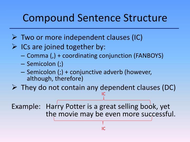 Compound Sentence Structure