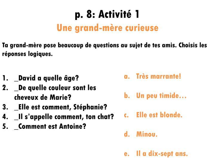 p. 8: Activité 1