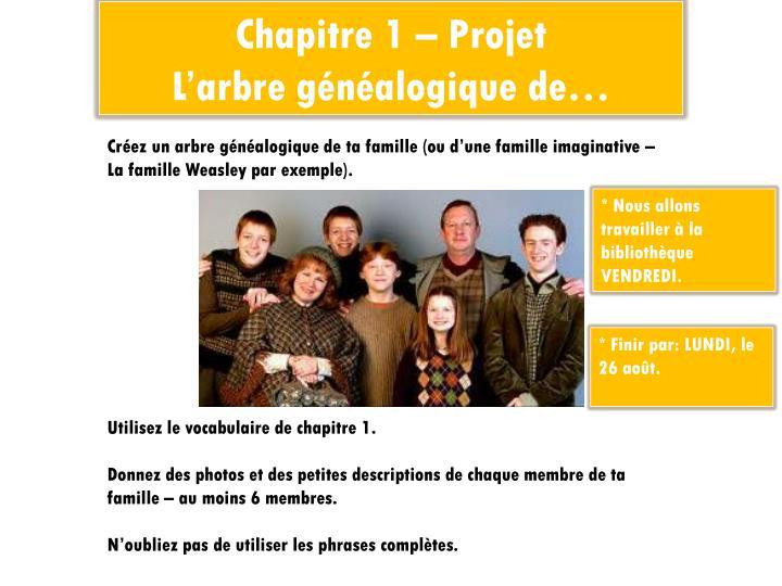 Chapitre 1 – Projet