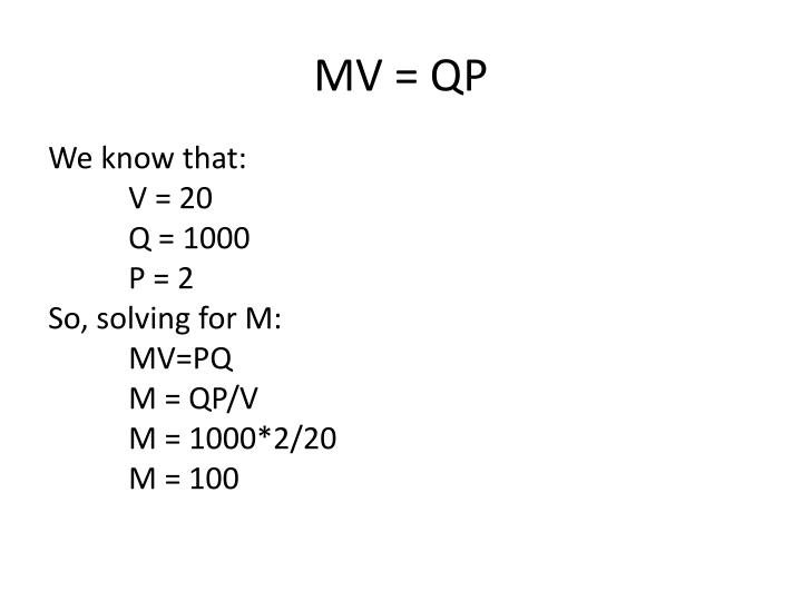 MV = QP