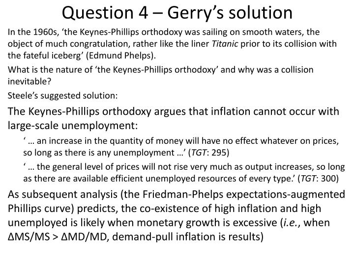 Question 4 – Gerry's solution