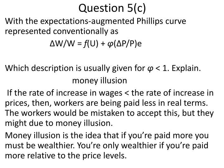 Question 5(c)