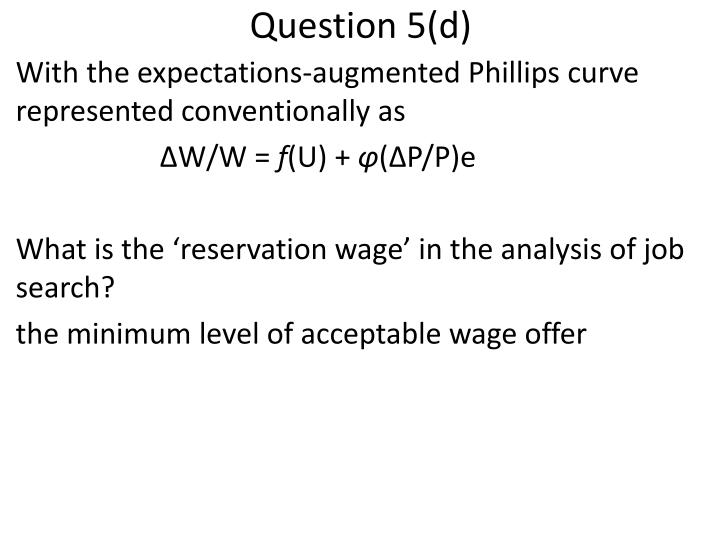Question 5(d)