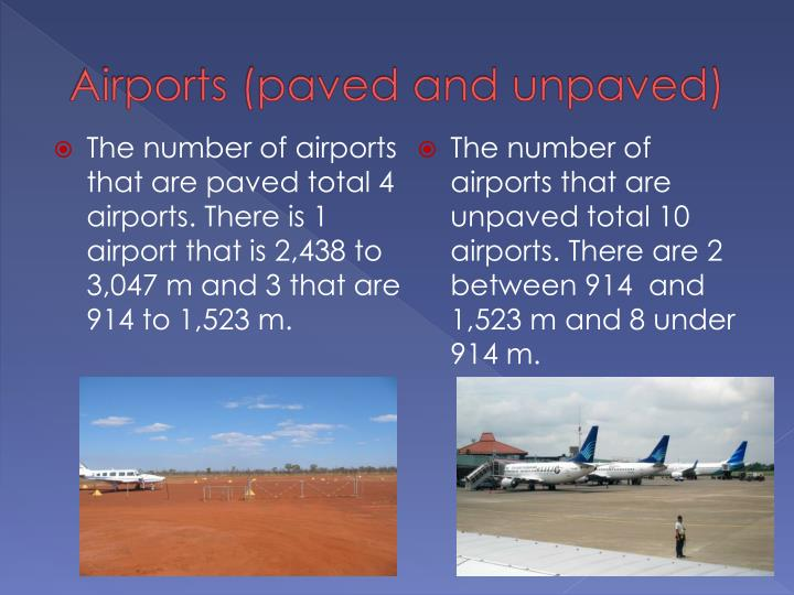 Airports (paved and unpaved)