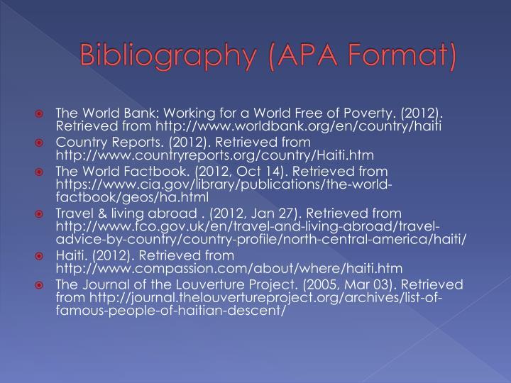 Bibliography (APA Format)