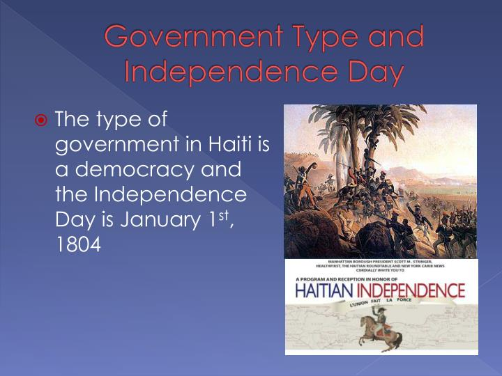 Government Type and Independence Day