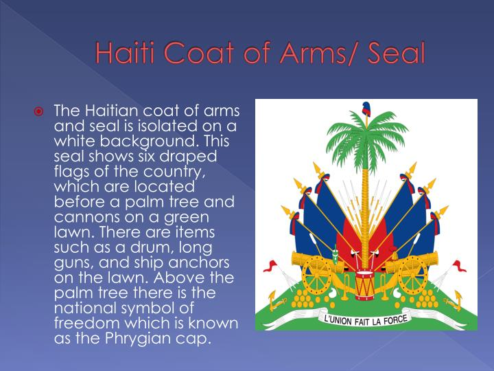 Haiti Coat of Arms/ Seal