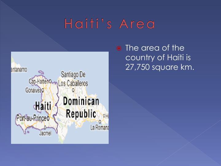 Haiti's Area