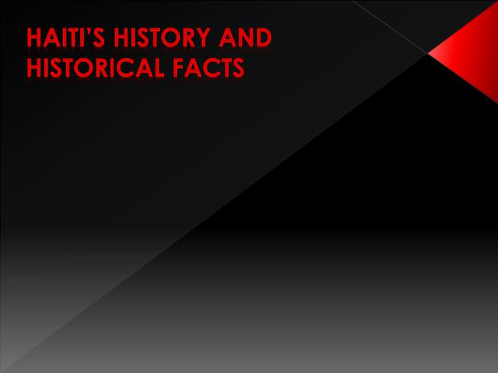 Haiti's History and Historical Facts