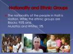 nationality and ethnic groups