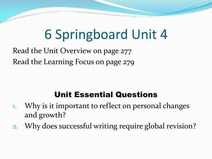 6 Springboard Unit 4