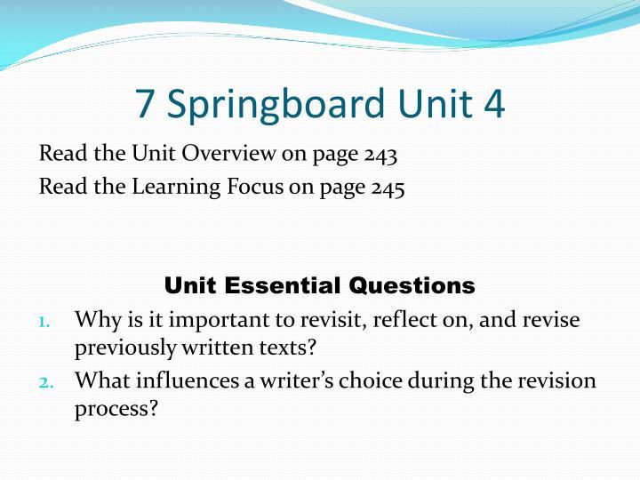 7 Springboard Unit 4