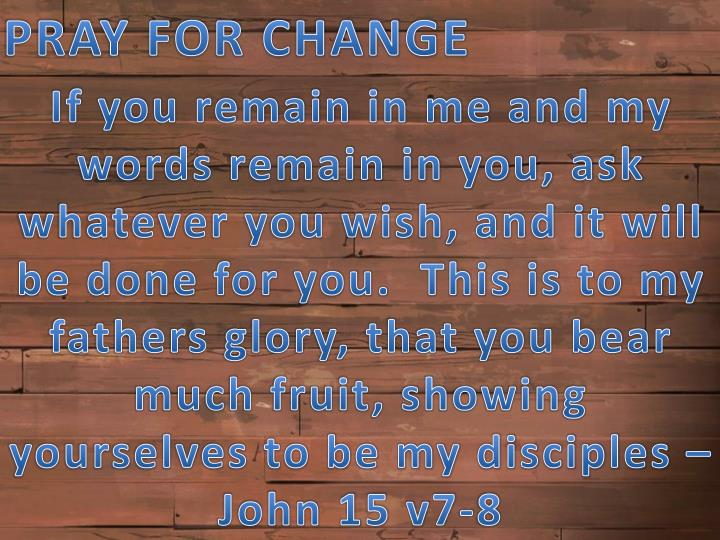 PRAY FOR CHANGE